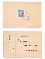 Czechoslovakia 1938 German Third Reich Annexation Wir Sind Frei Aussig Cancel