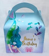 Mermaid Personalised Children Party Boxes Gift Favour 1ST CLASS POST