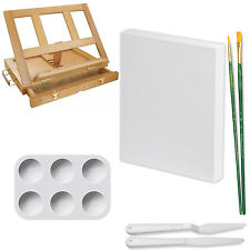 US Art Supply 23 Piece Acrylic Painting Set with Wooden Table Easel & Drawer