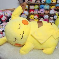 55cm Giant big pikachu pokemon lying sleep plush soft toys doll best warm gifts