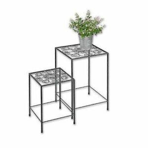 Blumenhocker Blumenständer Pflanztreppe Blumentisch Beistelltisch Tisch 2er Set