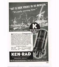 1946 Ken-Rad 6N7 Radio Tubes Vtg Print Ad