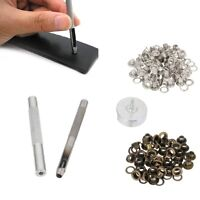 4MM Grommet Installation Setting Tool Kit + Leather Hole Punch + 80 Eyelets Set