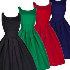 50s 60s Rockabilly Vintage Pinup Party Cocktail Evening Prom Bridesmaid Dress Red L