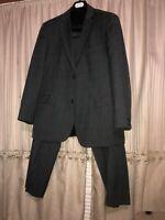 Hugo Boss Suit Size 42R  Mens Gray Suit  Wool 2 Button 36x31 Pants