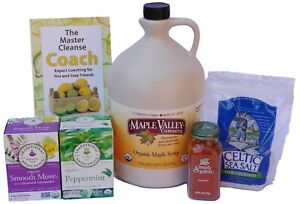 Maple Valley 16+ Day Organic Master Cleanse Lemonade Detox/Kit with Coach Book