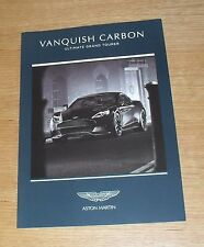Aston Martin Vanquish Carbon Black / White Price & Options Brochure 2015
