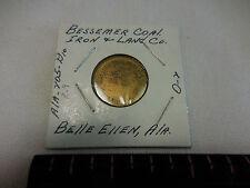 #205 D10-Belle Ellen Ala. Bessemer Coal Iron & Land Co. 10 cent token