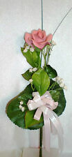 Kaiser Porzellan Rose Rosen rosa glossy mit Dekoration