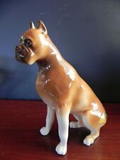 """Royal Dux Bohemia Boxer Dog Czech Republic 6.5"""" x 6"""""""