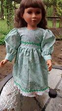 abstract green print dress fits 23 inch My Twinn doll handmade new