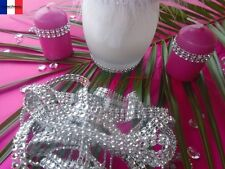 3Mx2 rangs + 1M cadeaux .ruban strass a coudre ou coller.décoration mariage.
