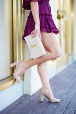 Sam Edelman Stillson Oatmeal suede heels size 8.5 Wide new in box