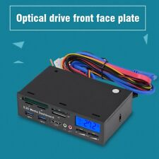 PC Internal Card Reader USB 3.0 Port Front Panel w/ CPU Temperature LCD Display