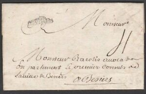 """FRANCE 1741 LGE PART ENTIRE + FINE FRAMED """"DE / TOVLOVSE"""" (TOULOUSE) TO BEZIERS"""