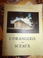 Plaquette L'orangerie de Sceaux , hauts de seine,