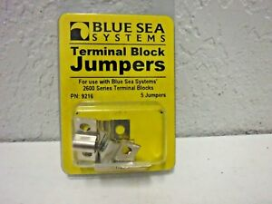 Blue Sea Systems Nickle Plated Brass Terminal Block Jumpers  # 9217 (5 Jumpers)