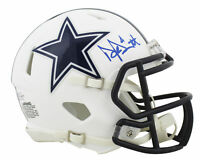 Cowboys Dak Prescott Authentic Signed Flat White Speed Mini Helmet BAS Witnessed