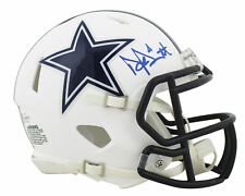 Cowboys Dak Prescott Authentic Signed Flat White Speed Mini Helmet BAS Witnessed