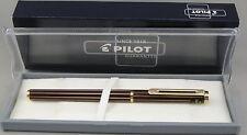 Pilot Dipper Burgundy Stripe w/Gold Trim Fountain Pen - Medium Nib - New In Box
