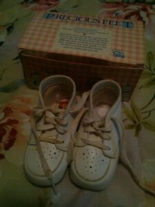 VTG Precious Feet Baby's First Shoes by Buster Brown 285B23 Snuggle Sz 3 E