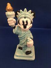 Rare Disney Minnie Mouse as Statue of Liberty Ceramic Porcelain Figurine