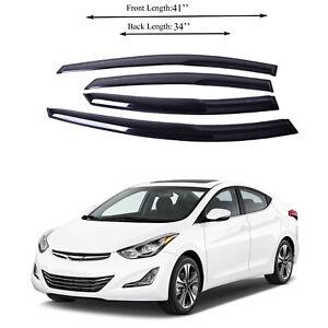 Fits Hyundai Elantra 2011-16 Side Window Vent Visor Sun Rain Deflector Guard