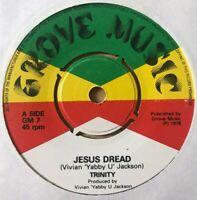 "TRINITY - Jesus Dread / Yabby U Sound - 7"" Vinyl - Grove Music 🇧🇴 ROOTS REGGAE"