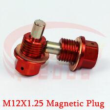M12X1.25 ENGINE MOTOR MAGNETIC OIL PAN DRAIN PLUG BOLTS CRUSH WASHER RD 2PCS