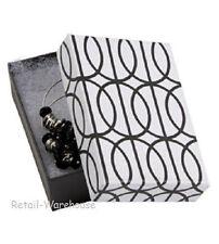 Jewelry Boxes 50 Black White Contemporary Halo Cotton 3 116 X 2 18 X 1 32