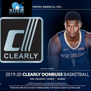 Memphis Grizzlies! 19/20 Clearly Donruss Basketball 4 Box Break