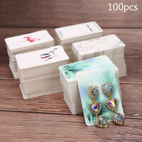 100pcs/lot Paper Necklace&Earrings Display Packing Cards Jewelry Ornament DIY IT