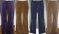 Coldwater Creek $60 FineWale Corduroy Bootcut Pants Cords Trousers Slacks Colors