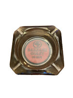 Vtg Las Vegas Ashtray Barbary Coast Casino Red Logo Smoke Glass