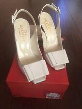 8bc97819301 Auth Valentino Patent Slingbacks With Bow Chunky Heels New Retail  695 SZ  36.5
