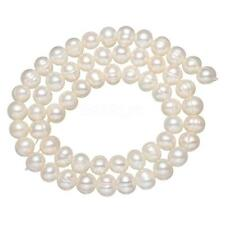 100% Natural Freshwater Pearl Loose Beads Lots Wholesales Potato White 6-7mm 15""