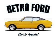 FORD TAUNUS TC t-shirt. OLD SKOOL. CLASSIC CAR. MODIFIED. RETRO.