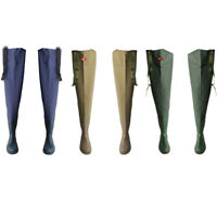 PVC HIP WADERS SIZE-40-45 WATERPROOF FLY COARSE FISHING THIGH BOOTS Waders