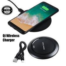 Omilik Black Qi Wireless Charger Charging for Samsung Galaxy J1 J2 J3 J5 J7 A7