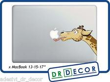 "Adesivo Giraffa ""Leccamela"" per Mac Book Pro/Air 13 - Stickers giraffe  MacBook"