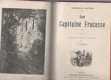 le capitaine fracasse -gautier y otra tre novelas en francés en un solo tomo