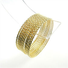 Orientalisch exotisch  Edelstahl Armreifen Set Farbe gold