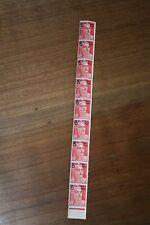 FRANCE - 5 f. sur 6 f. rose carminé  bande de 9 timbres