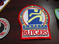 Embroidered Jacket Patch Rutgers SAFETY LOOK