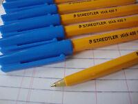 10 Staedtler Kugelschreiber Blau Fein Ausgezeichnete Qualität