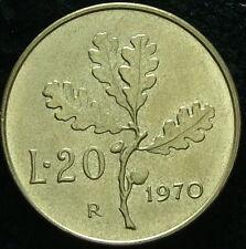 1970  Repubblica Italiana   20   lire  QFDC
