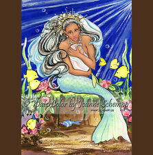 MERMAID FAIRY ACEO REFRIGERATOR Fridge MAGNET Yemaya Stocking Stuffer SCHEMPP