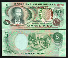 PHILIPPINES 5 PESOS P-160 C 1978 * REPLACEMENT UNC CURRENCY MONEY BILL BANK NOTE