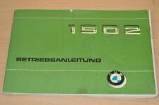 BMW 1502  Stand 1975 BA Bedienungsanleitung Betriebsanleitung