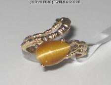 SENSATIONAL ESTATE 10K YELLOW GOLD PEAR TIGERS EYE LADIES RING Size 5.75
